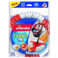 Vileda Easy Wring & Clean Turbo Насадка для швабры из микрофибры круглая веревочная