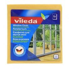 Vileda Салфетка для мытья окон из вискозы и микрофибры