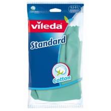 Vileda Standard Резиновые перчатки хозяйственные с внутренним хлопковым напылением Размер 8,5-9 L Большой