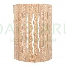 Абажур для светильника, угловой, липа, с орнаментом «Цветы», 31х9х22 см