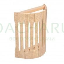 Абажур для светильника, угловой, липа, с орнаментом «Рогожка», 31х9х22 см