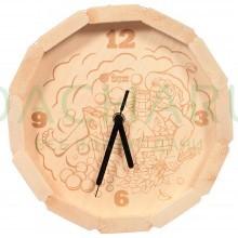 Часы кварцевые в форме бочки «В парилке» для бани и сауны 27*8 см