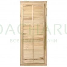 Дверь глухая 1,7х0,7 м., липа Класс С, коробка из липы