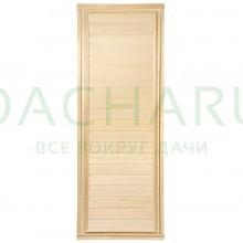 Дверь глухая, горизонтальная 1,9х0,7 м.,липа Класс А, коробка из сосны, с ручками и петлями в гофрокоробе