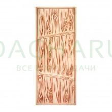Дверь глухая из цельного массива 1,7х0,7 м., липа Класс А, коробка из сосны