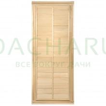 Дверь глухая с фольгой 1,7х0,7 м., липа Класс Б, коробка из липы
