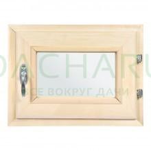 Форточка в парную, двойное стекло, 0,3Вх0,4Ш м с ручкой, затвором, петлями