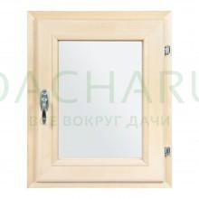 Форточка в парную, двойное стекло, 0,5Вх0,4Ш м с ручкой, затвором, петлями