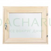 Форточка в парную, двойное стекло, 0,5Вх0,6Ш м с ручкой, затвором, петлями
