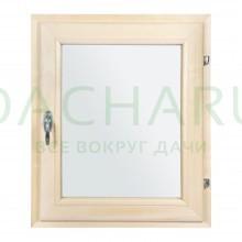 Форточка в парную, двойное стекло, 0,6Вх0,5Ш м с ручкой, затвором, петлями