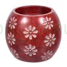 Испаритель и подсвечник, 2 в 1 «Цветы» из камня для бани и сауны