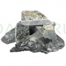 Камень «Талькохлорит», колотый, в коробке по 20 кг