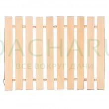 Коврик деревянный, липовая рейка, 46х35х1см