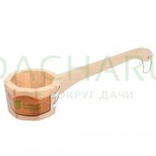 Ковш - черпак бондарный 0,6 л. с горизонтальной ручкой, липа