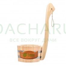 Ковш - черпак бондарный 0,6 л. с вертикальной ручкой, липа