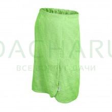 Махровая накидка для женщин, для бани и сауны 140х80см, цвет