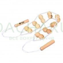 Массажёр деревянный ленточный для спины 110х7х3 см