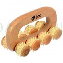 Массажёр деревянный универсальный «Вездеход», 14х7х8,5 см