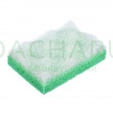 Мочалка из целлюлозы c массажным слоем, 130х90х35 мм, прямоугольная