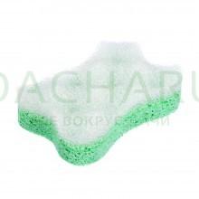 Мочалка из целлюлозы c массажным слоем, 13х9х3,5 см, фигурная