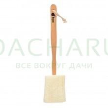 Мочалка из люфы, на деревянной ручке, 40 см