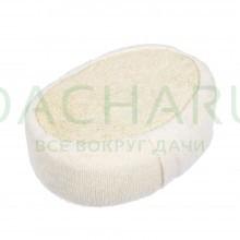 Мочалка из люфы, спонж мягкий с хлопком 11х15х5 см