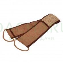 Мочалка из рами, лента с сегментами хлопка с веревочными ручками, 66х8,5 см (76х8,5 см с ручками)