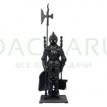 Набор для камина 3 предмета на подставке Рыцарь, 72,5х15х24,5 см