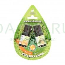 Набор эфирных масел «апельсин и сосна» 2 масла по 10 мл в блистере в форме капли