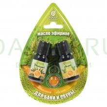 Набор эфирных масел «эвкалипт и лимон» 2 масла по 10 мл в блистере в форме капли