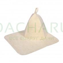 Набор из двух предметов (Шапка, коврик) белый