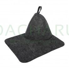 Набор из двух предметов (Шапка, коврик) серый