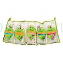 Набор Запарок в сумочке 5шт (Мята, Эвкалипт, Душица, Можжевельник,Чабрец)