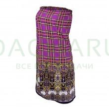 Накидка для женщин, для бани и сауны, 140х80см, хлопок, цвет