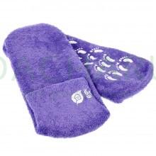Носочки увлажняющие велюровые с гелем (лаванда, алоэ вера)