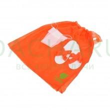 Одноразовый набор для женщин, для бани и сауны (парео, тапочки и трусики), оранжевый