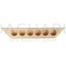 Полочка для масел на 6 пузырьков 28х4,5х2,5 см, липа