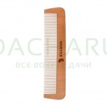 Расческа деревянная, гребень, 17,5х4 см, с деревянными зубчиками