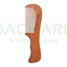 Расческа деревянная, гребень, 17,5х5 см, с деревянными зубчиками