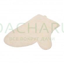 Рукавица для сауны белая