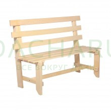 Скамейка со спинкой разборная 130х50х100см