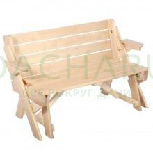 Скамья-стол раскладная 120*80*40 см,липа