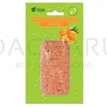 Соляная плитка с эфирным маслом «Апельсин», 200 г для бани и сауны