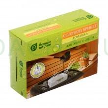 Соляной брикет с травами «Ромашка», 1300 г для бани и сауны