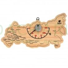Термометр «Карта России» 22х11х2,5 см для бани и сауны