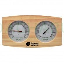 Термометр с гигрометром Банная станция 24,5х13,5х3 см для бани и сауны