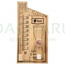 Термометр с песочными часами 27,8х14х5,3 см для бани и сауны