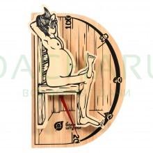 Термометр «В здоровом теле-здоровый дух» 19,8х13,4х3,3 см для бани и сауны