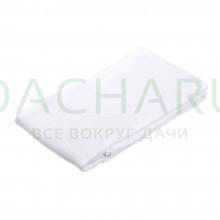 Вафельное полотенце-простынь банное, белое 80*150см