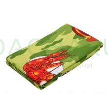 Вафельное полотенце-простынь банное, цветное с рисунком 80*150см, цвет